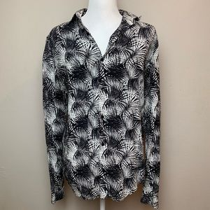 Zara slim fit Tropical button up long sleeves | S